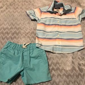 Boys short outfit